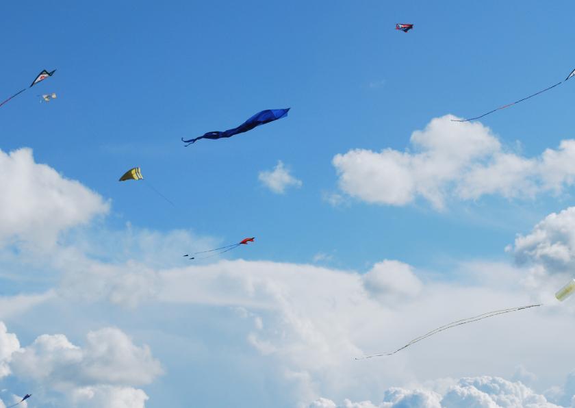 Zomaar kaarten - Prachtige fotokaart lucht en vlieger