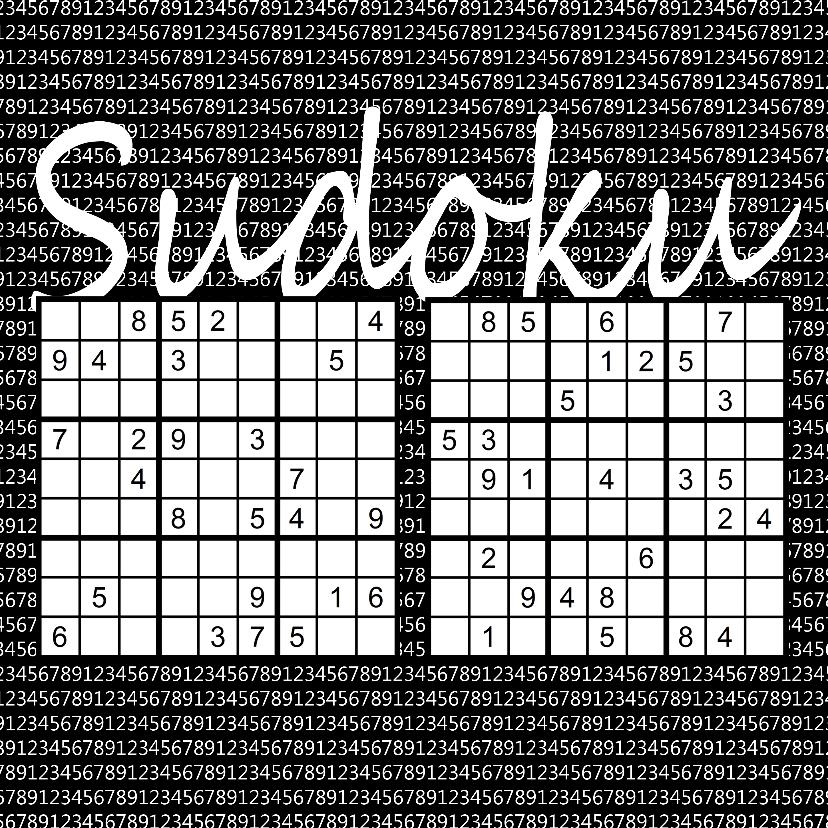 Zomaar kaarten - Puzzelkaart met twee sudoku's (II)