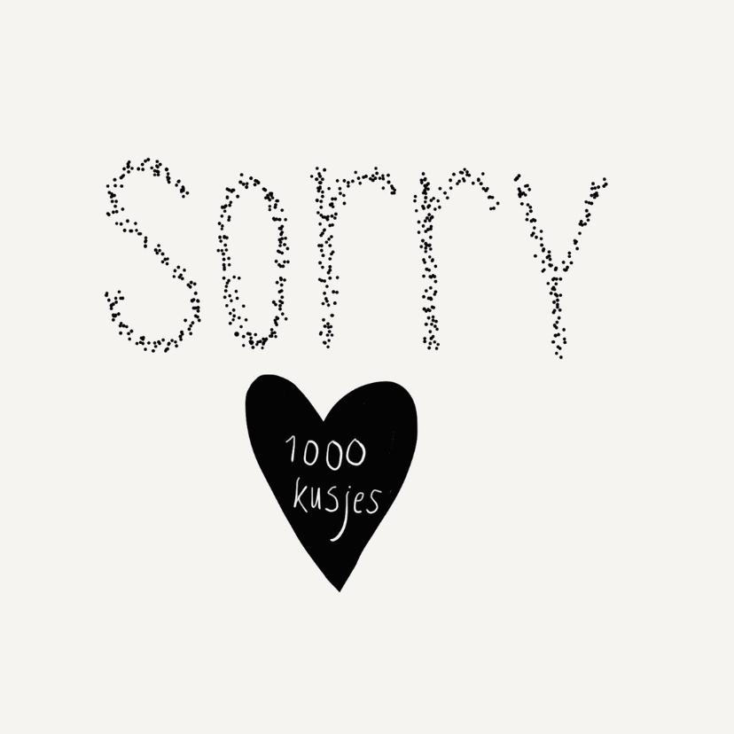 Zomaar kaarten - Sorry 1000 kusjes