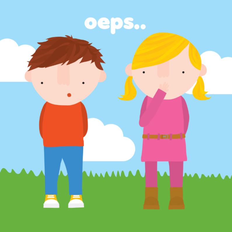 Zomaar kaarten - Sorry Kinderen Oeps