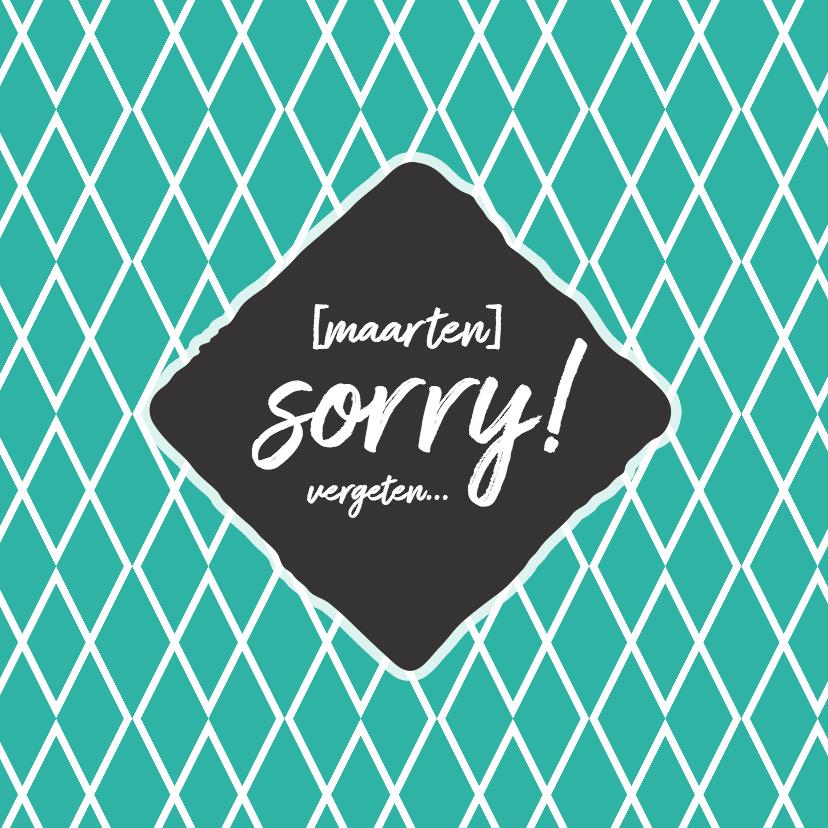 Zomaar kaarten - Sorry - naam + vergeten