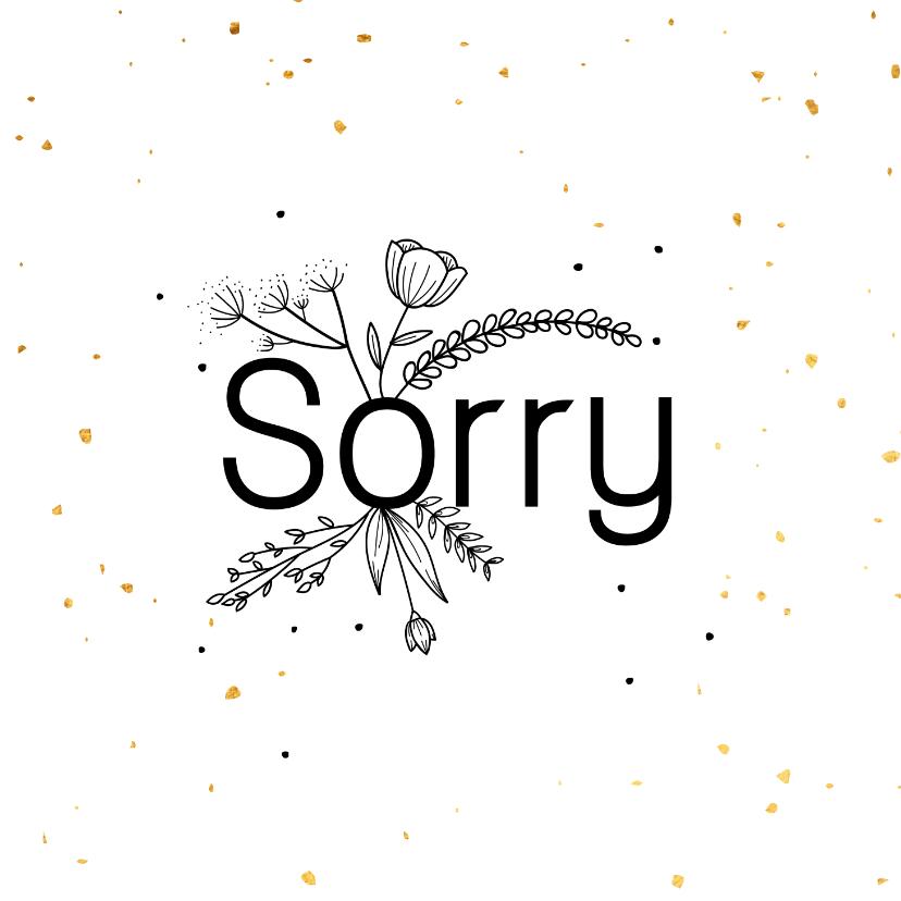 Zomaar kaarten - Sorrykaart - flowers