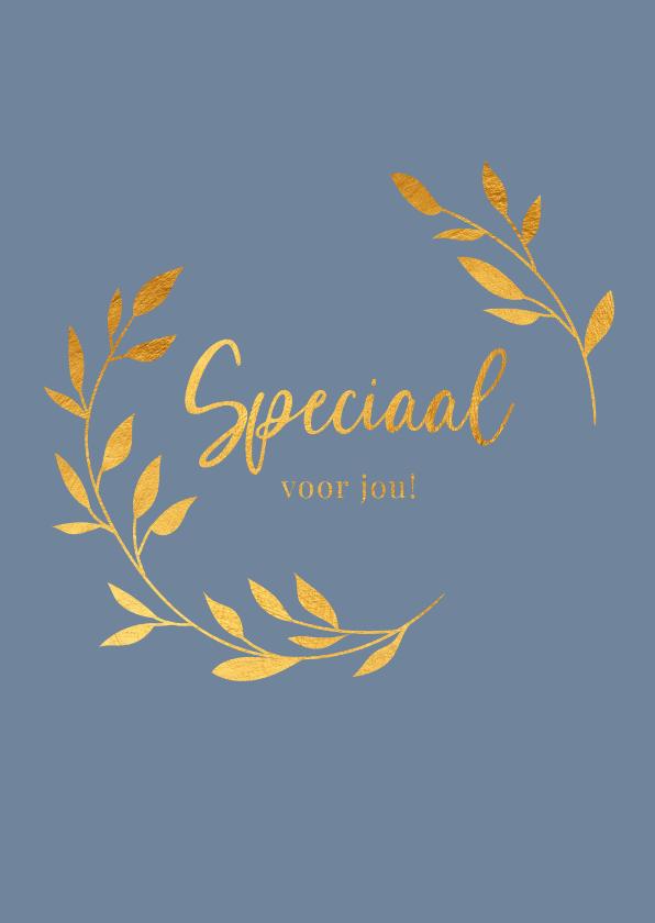 Zomaar kaarten - Speciaal voor jou - a touch of gold - zomaar kaart