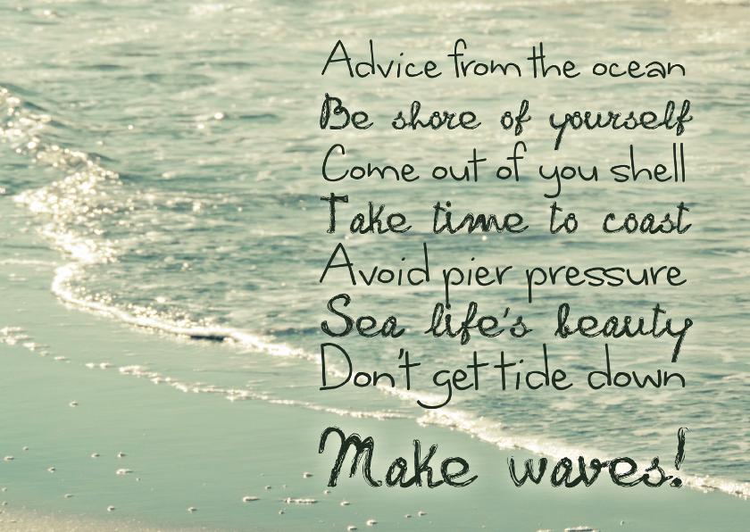 Zomaar kaarten - Spreukenkaart Advice from the ocean