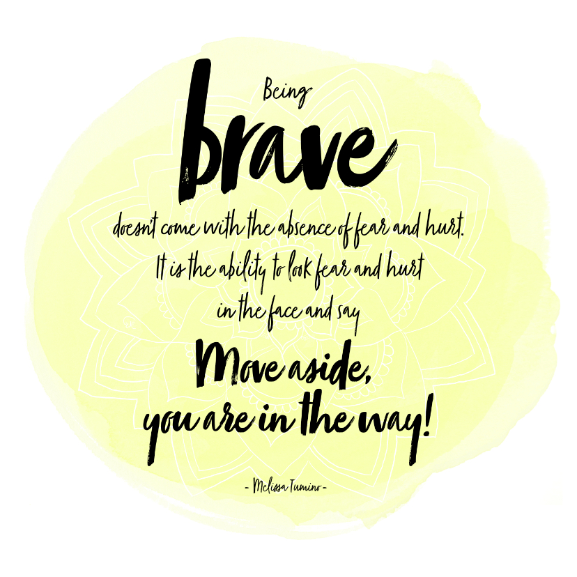 Zomaar kaarten - Spreukenkaart Being Brave