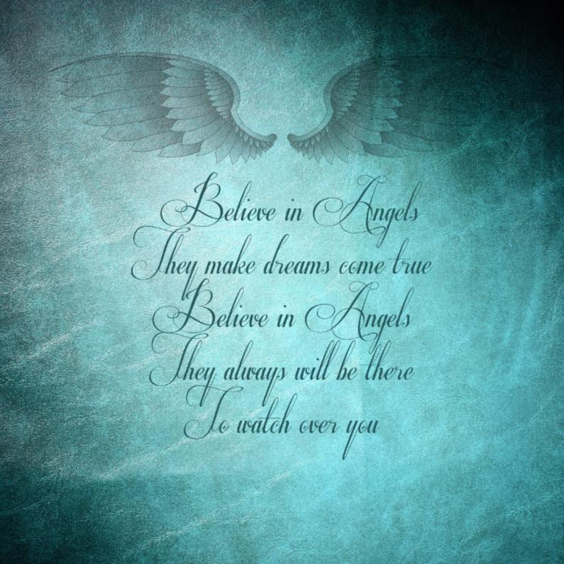 Zomaar kaarten - Spreukenkaart: Believe in angels