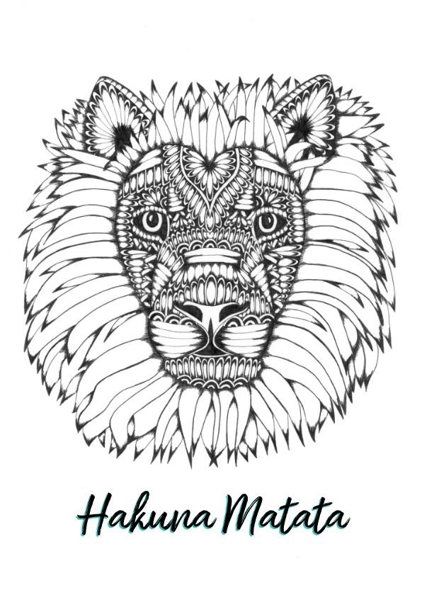 Zomaar kaarten - Spreukenkaart Hakuna Matata