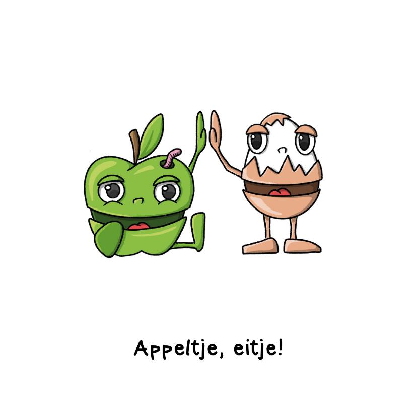 Zomaar kaarten - Succes appeltje eitje kaart