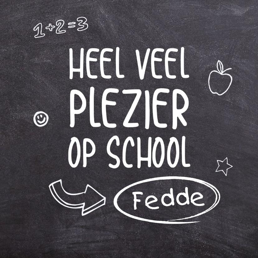 Zomaar kaarten - Succes - eerste schooldag schoolbord