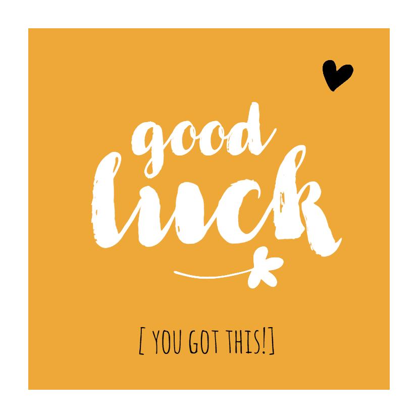 Zomaar kaarten - Succes - good luck okergeel