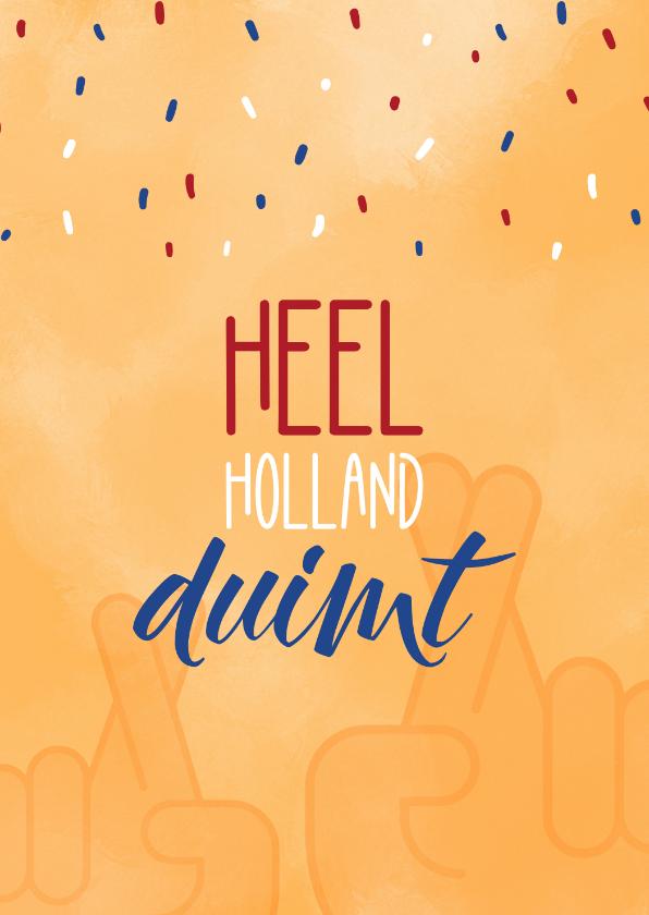 Zomaar kaarten - Succes Heel Holland duimt