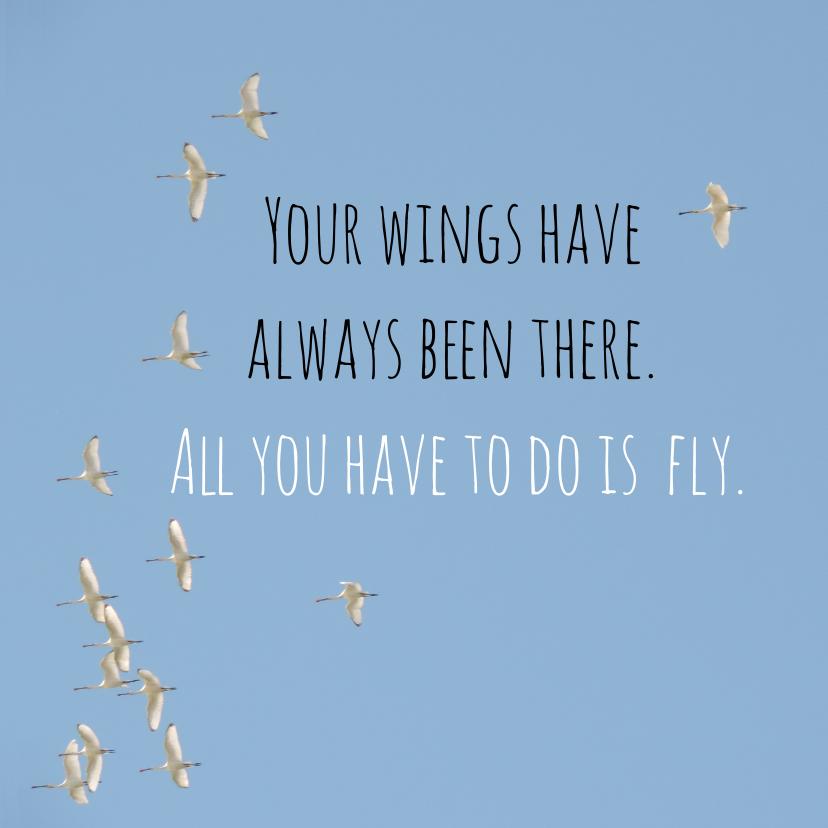 Zomaar kaarten - Succes kaart vogels fly