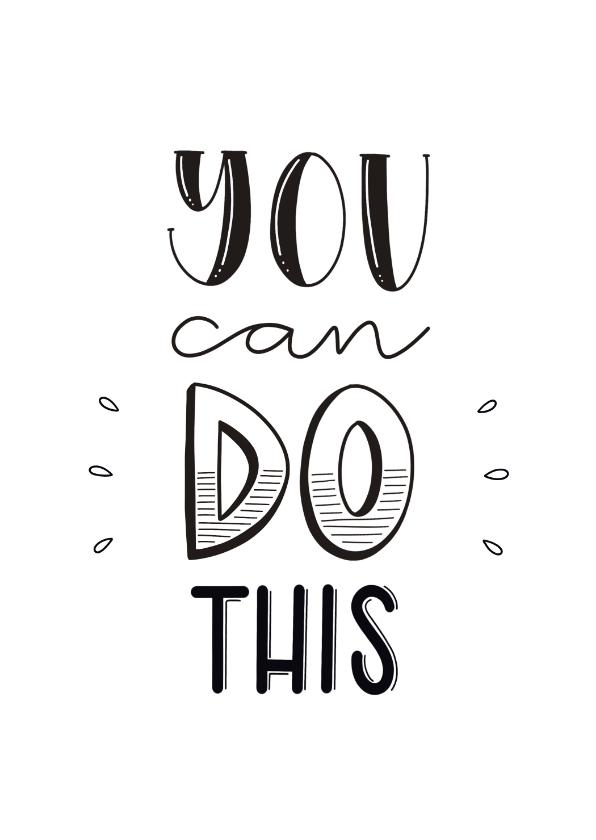 Zomaar kaarten - Succes kaart - You can do this
