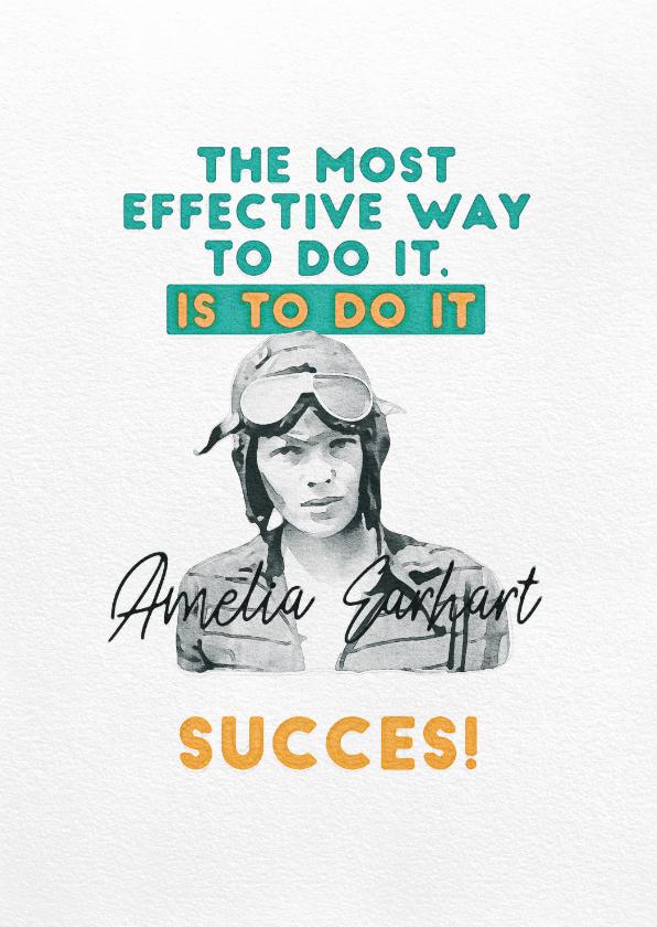 Zomaar kaarten - Succeskaart - Amelia Earhart