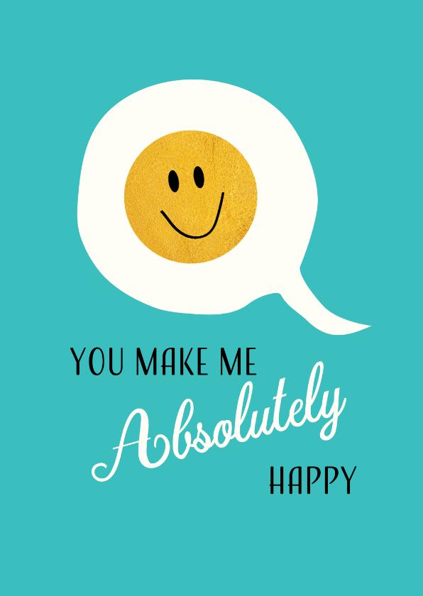 Zomaar kaarten - Tekstballon met gouden smiley voor iemand speciaal