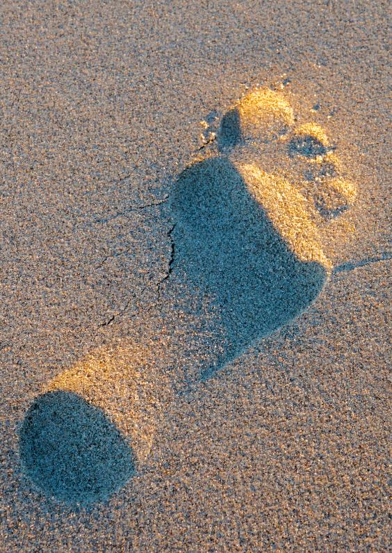 Zomaar kaarten - Voetstap in het zand