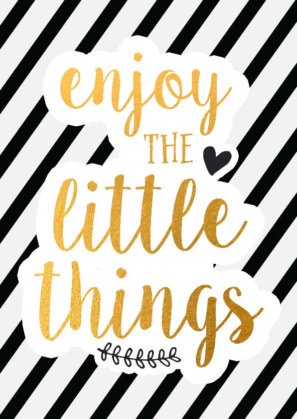Zomaar kaarten - Vriendschap enjoy the little things