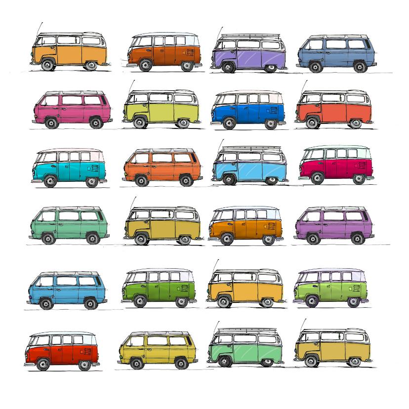 Zomaar kaarten - VW bus T1T2T3 vierkant