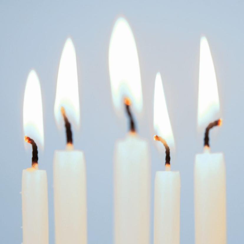 Zomaar kaarten - Witte kaarsen