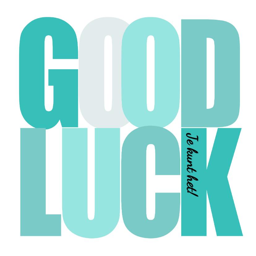 Zomaar kaarten - Woorden Good Luck Groen - BK