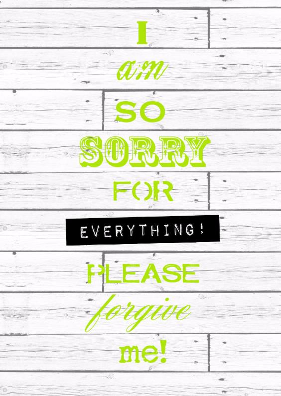 Zomaar kaarten - Woorden Please forgive me! - BK