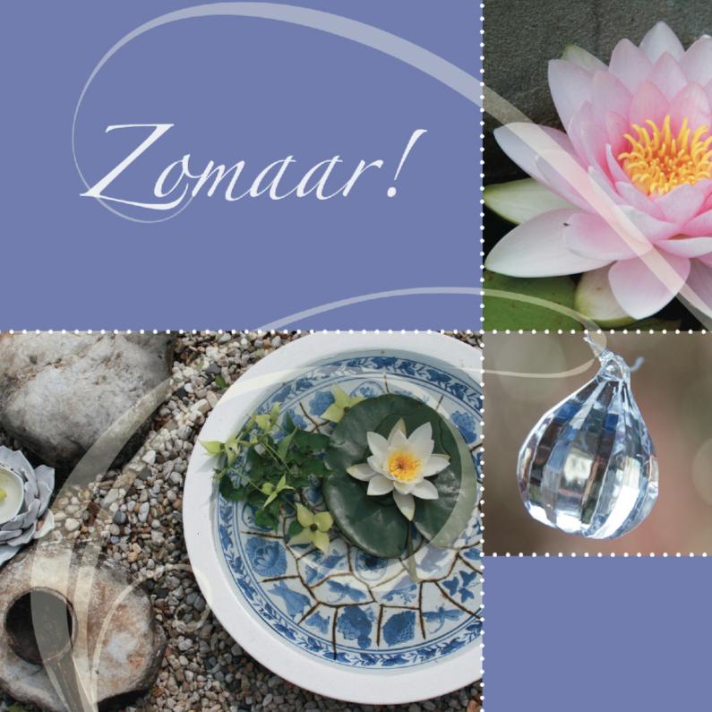 Zomaar kaarten - Zomaar balanskaart met waterlelie en kristal