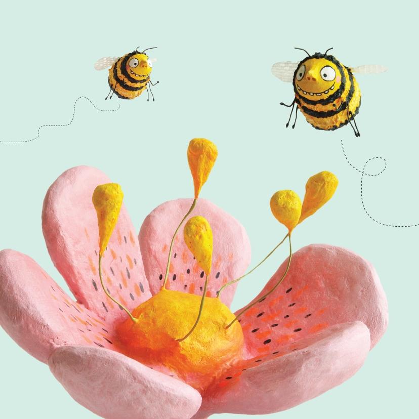 Zomaar kaarten - Zomaar bloem en bijtjes