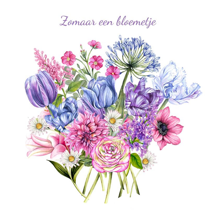 Zomaar kaarten - Zomaar een bos bloemen