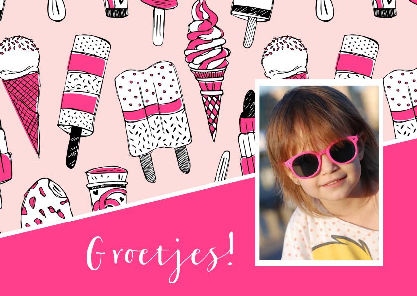 Zomaar kaarten - Zomaar een kaartje met ijsjes en foto