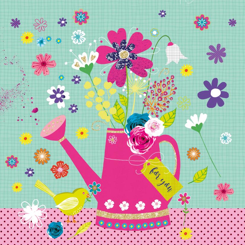 Zomaar kaarten - Zomaar gieter bloemen