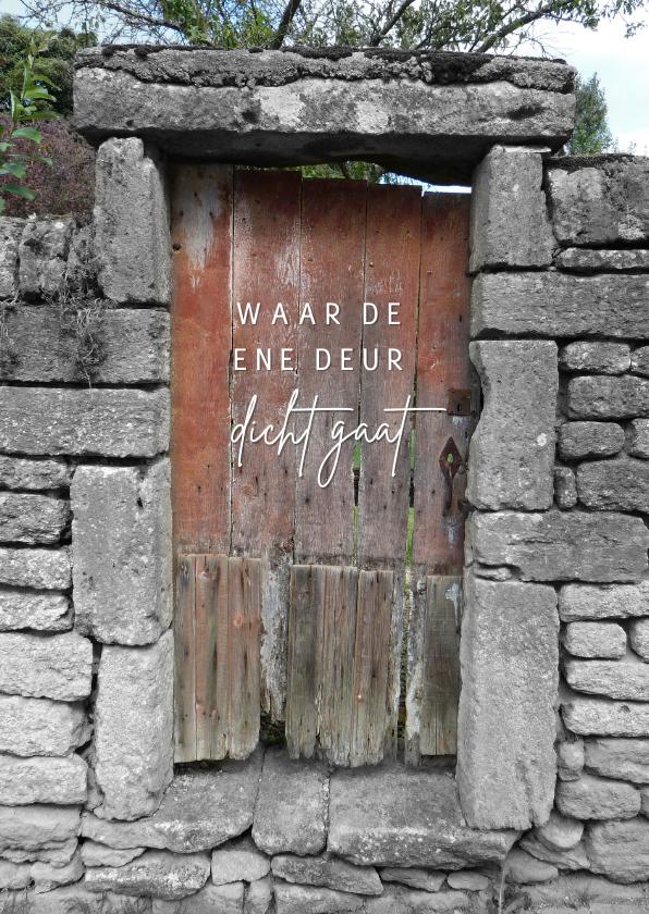 Zomaar kaarten - Zomaar houten deur