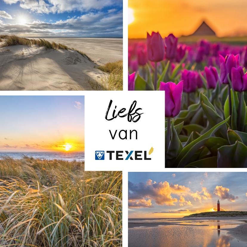 Zomaar kaarten - Zomaar kaart met collage van 4 foto's van Texel