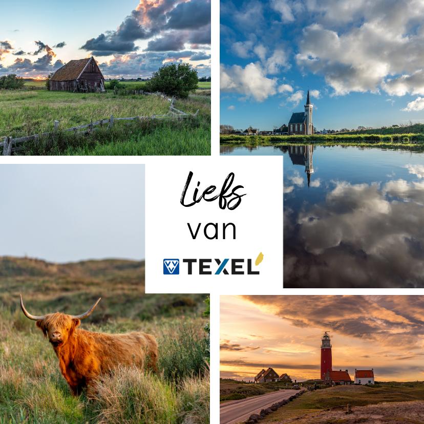 Zomaar kaarten - Zomaar kaart met collage van foto's van Texel