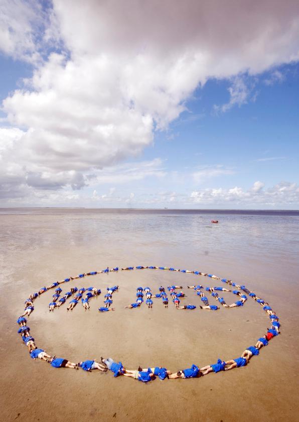Zomaar kaarten - Zomaar kaart - met vrijheid afgebeeld op het strand