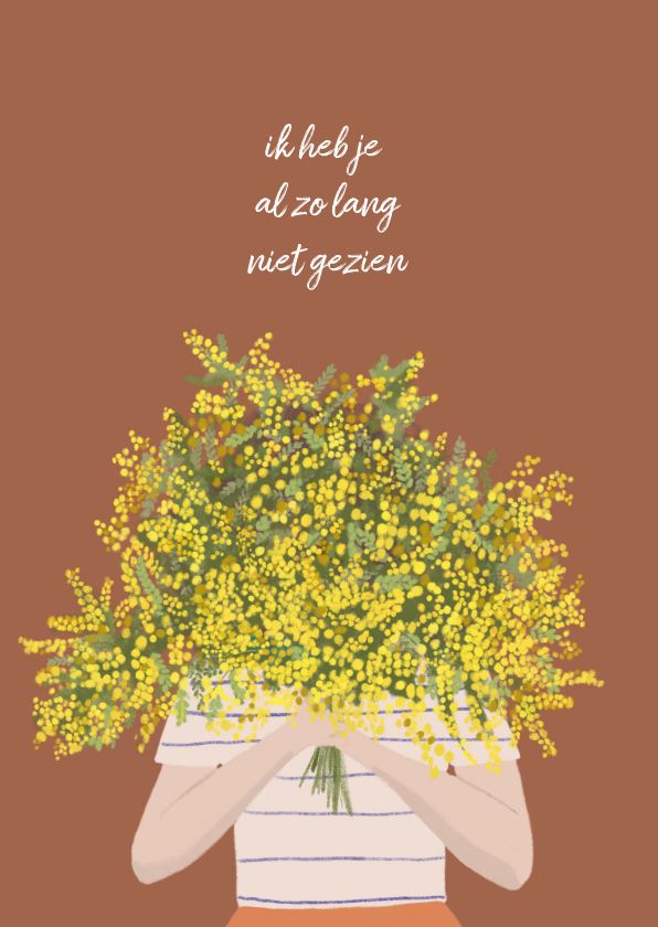 Zomaar kaarten - Zomaar kaart mimosa bloemen
