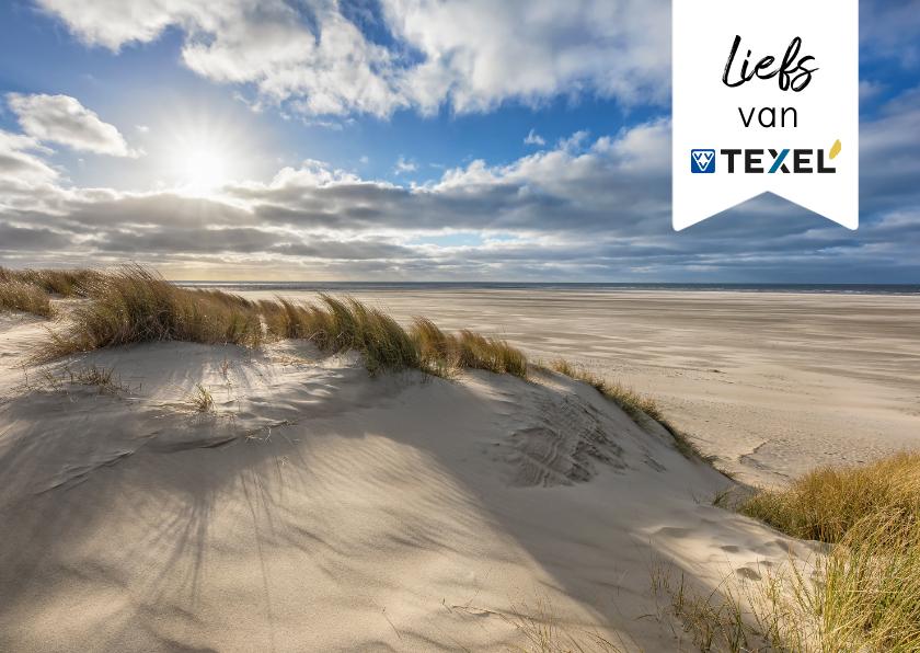 Zomaar kaarten - Zomaar kaart strand genieten van Texel