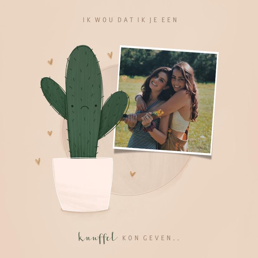 Zomaar kaarten - Zomaar kaartje ik wou dat ik je een knuffel kon geven cactus
