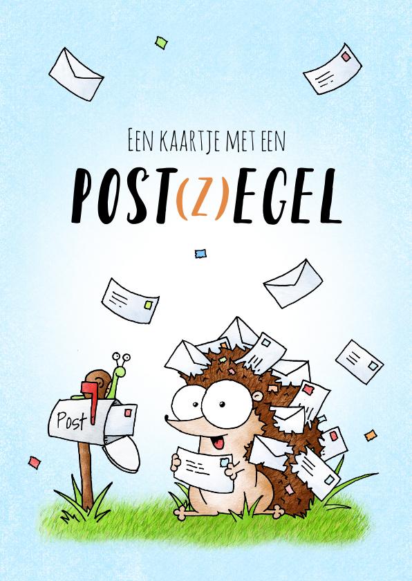 Zomaar kaarten - Zomaar kaartje met een post(z)egel