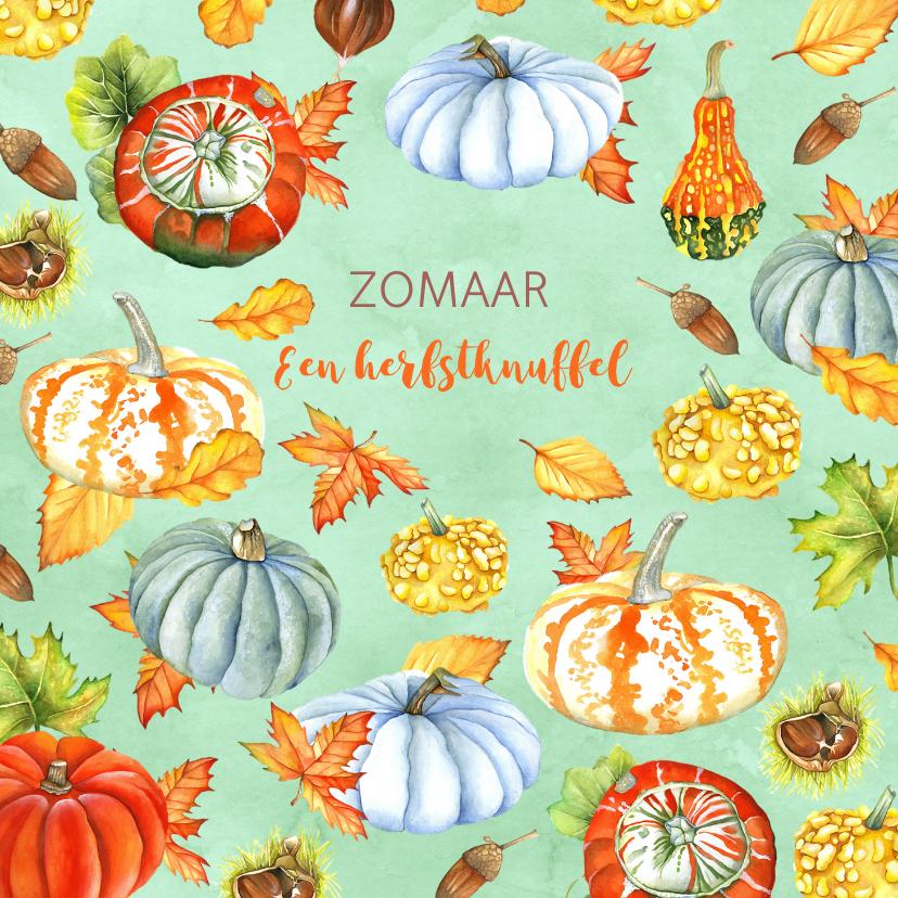 Zomaar kaarten - Zomaar kalebas herfst