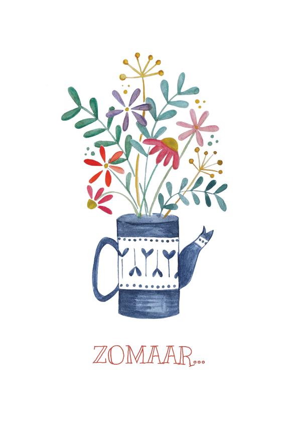 Zomaar kaarten - Zomaar, met vaas en bloemen