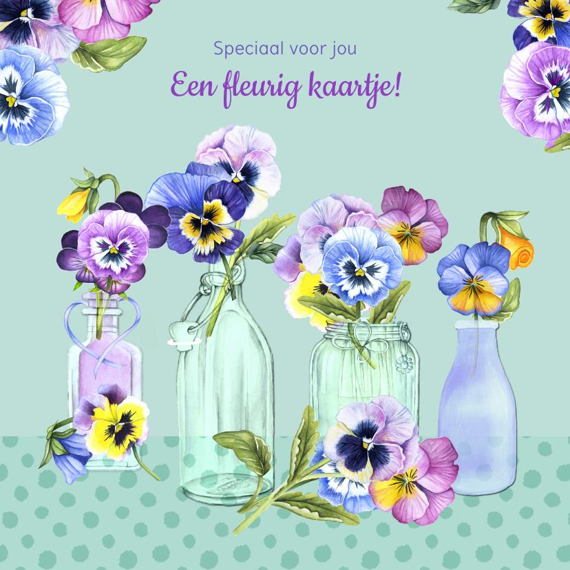Zomaar kaarten - Zomaar viooltjes vaasjes