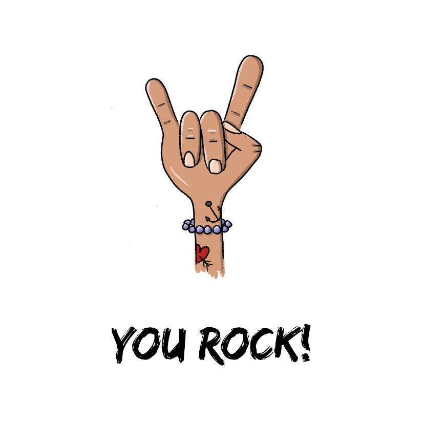 Zomaar kaarten - Zomaar You Rock kaart