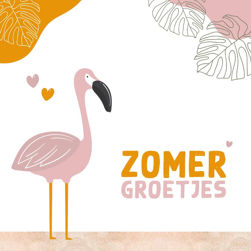 Zomaar kaarten - Zomaar - zomerse groetjes flamingo