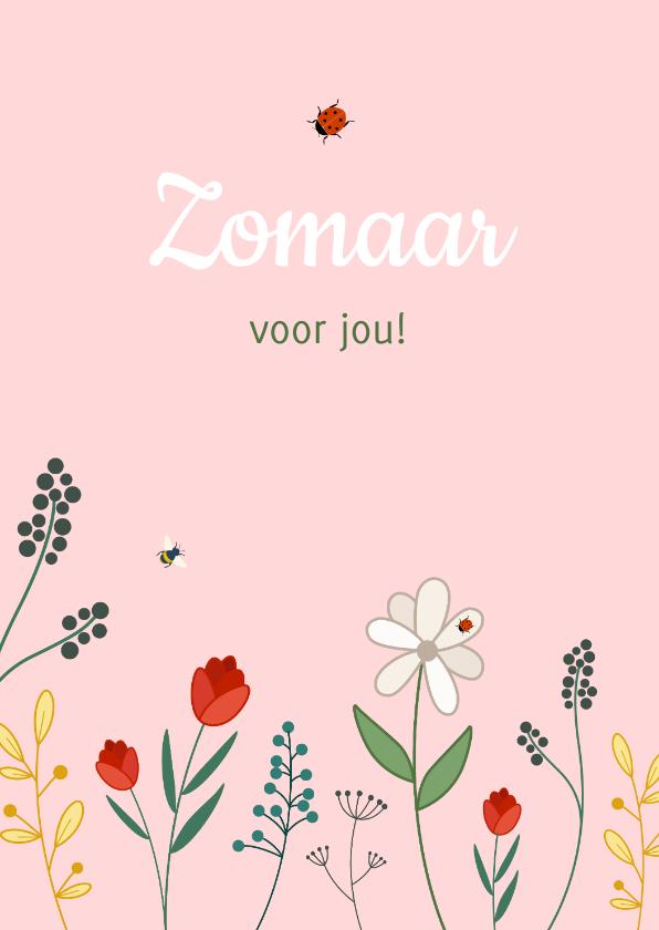 Zomaar kaarten - Zomaarkaart bloemen voor jou