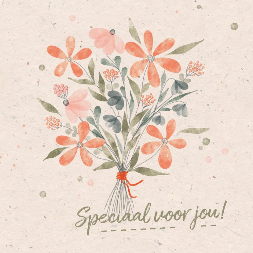 Zomaar kaarten - Zomaarkaart met aquarel bloemen